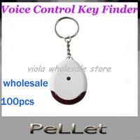 Pesticide ant pesticide - Hot sale practical Sound sonic Voice Control Key Finder Locator Chain Keychain dy DHL100pcs