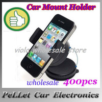 For Apple For Ipad3 For 7 Brand New Universal Windshield Mount Car Mount Holder Portable for iPhone4 5 mobile phones 400pcs