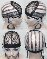 base net - Black Color Lace Cap inside inner Net base Hair Weft making cap weaving caps weave Net Supplier Size Medium Lace Cap Stock