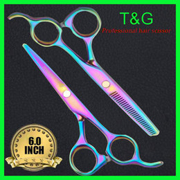 Wholesale shears professional hair scissors High quality C Steel Inch Inch Tooth With Free Scis