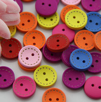 Buttons   (100pcs lot) Wholesale Buttons Wooden Cute Bowl Cloth Children Buttons Garment Accessories #MH005