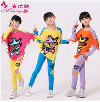 Wholesale 2014 Spring Baby Children Grils Clothes Sets Cotton Mix color children girl clothings by Freeship