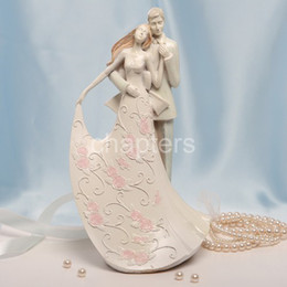 Wholesale quot Lean On My Shoulder quot White Resin Wedding Cake Topper For Wedding Favors Gifts Party Accessory Cake Decoration Supplies