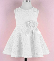 Wholesale Children s Princess dress Sleeveless beautiful dress Lace fabric kids dress Sweet girls dress