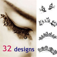 Wholesale 2013 hot paper cutting art Eye lashes designs black lace false eyelash Christmas party makeup accessory for women