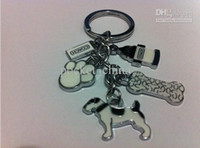 Wholesale Dog animal keychain cute key ring for women innovative gadget trinket souvenir christmas gift novelty items promotional keychain