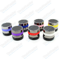 Wholesale A6 MIC Handfree FM TF Card Wireless Bluetooth Speaker For iPhone S C S Samsung HTC Blackberry Mobile Phone