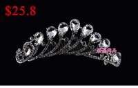Tiaras&Crowns Rhinestone/Crystal  2014 Luxurious Popular Plus Size Bridal Jewelry Royal Crowns Shiny Crystals Tiara Wedding Tiaras Hair Accessories