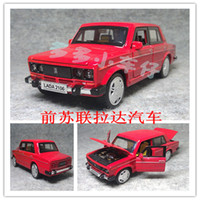 Wholesale sound and light version of the Lada cars Nostalgic classic taxi mirada alloy car model toy