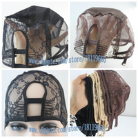 Wholesale Choose Black Brown Beige L M S Left U Part Right U Part Center U Part Weaving Cap U part Wig Cap Lace Cap High quality hot selling