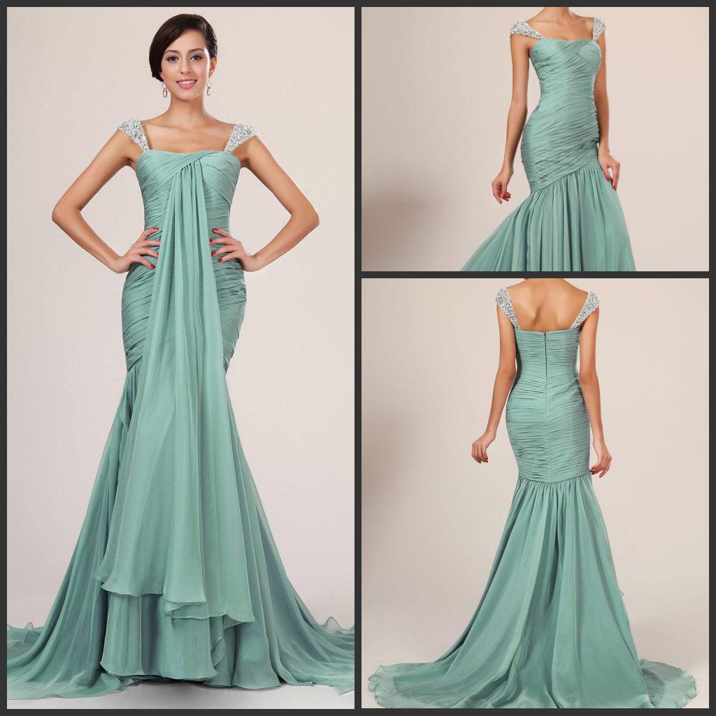 Evening Gowns With Cap Sleeves 2014 Evening Dress Cap Sleeves