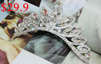 Wholesale 2014 Luxurious Unique Glamorous Plus Size Bridal Jewelry Royal Bridal Crowns Shiny Crystals Tiara Wedding Tiaras Hair Accessories