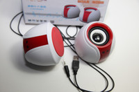 Wholesale Mini speakers small stereo magic ball computer parts pair computer speaker Huiai HIFI speaker big sound