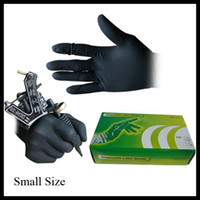 Wholesale 100Pcs Small Size Black Disposable Tattoo Latex Gloves for Tattoo accesories supply