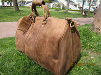 leather duffel bags - vintage style mens large luggage genuine leather duffel gym bag shoulder tote handbag travel