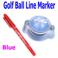 Wholesale Blue Golf Ball Line Liner Marker Pen Marks Template Alignment Tool Set Equipment Accessories