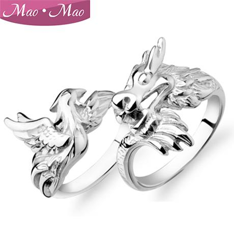 clearance dragon and phoenix couple rings on the ring men vintage wedding rings ms valentine fahion rings couple rings silver couple rings online with - Clearance Wedding Rings