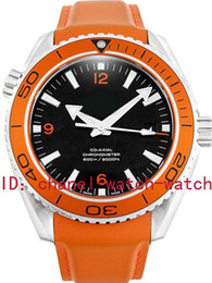 LUXURY BRAND NEW IN BOX SEA PLANET OCEAN CO-AXIAL 232.32.46.21.01.001 ORANGE MENS AUTOMATIC WATCH LEATHER BAND MEN'S MOVEMENT WRIST WATCHES
