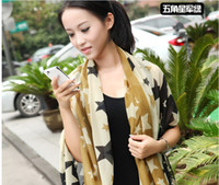 Wholesale Sales scarf South Korea female leopard grain cloth with soft nap chiffon scarves qiu dong long scarves shawls lt lt fgsder