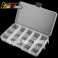 Wholesale Adjustable Compartment Plastic Clear Storage Box for Jewelry Earring Tool Container