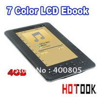 Wholesale 4GB inch Color LCD Ebook E book Reader P electronic reading Photo Frame MP4 player with retail package