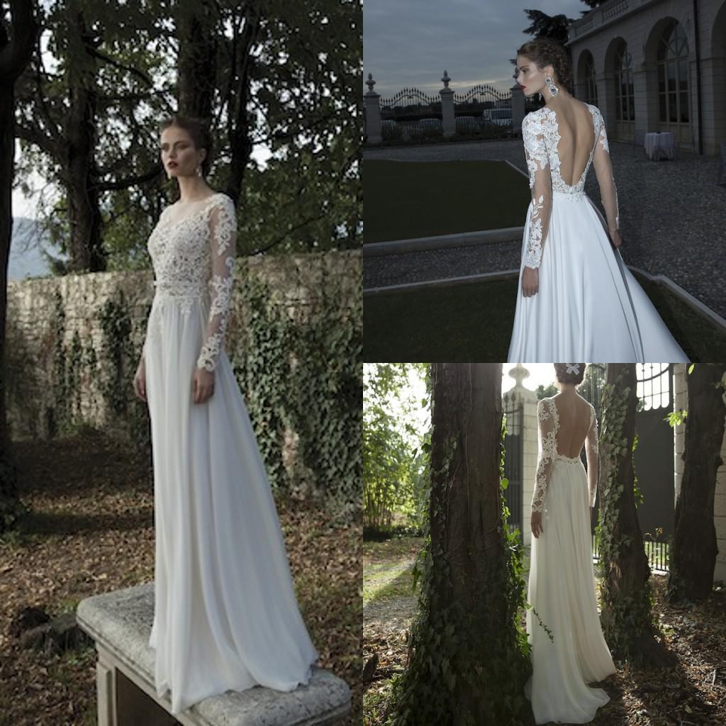 Berta Bridal 2014 Winter Sheer Lace Long Sleeve Floor