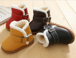 Wholesale Fashion New Children s Boot baby cotton shoes Belt buckle kids shoes non slip toddler shoes yards baby shoes pairs