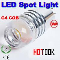 Wholesale COB G4 W LED Corn Light led spoting SMD COBSMD Spot Lights Bulb Lamp V for car Chandelier Crystallights CE ROHS X