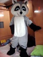 al por mayor traje adulto del mapache-Nuevo tamaño gris Profesional mapache mapache traje de la mascota del vestido de lujo adulto