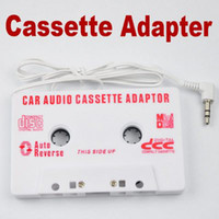 Wholesale 200pcs mm Car Audio Cassette Tape Adapter for MP3 Player CD Phone White