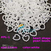 Wholesale White Imitation Heart Shape Pearl Beads Nail Art Decoration Cellphone Laptop Decoration Art