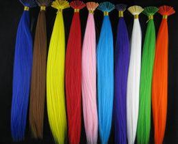 Plumes synthétiques gros en Ligne-Vente en gros - Emballage détail 240pcs / pack Livraison gratuite Grizzly Synthetic Fiber Feather Hair Extension, V