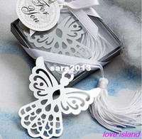 Wholesale Angel Cross Design Bookmark Favors White Silk Tassel wedding favor baby shower gift birthday party favors