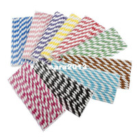 Wholesale Biodegradable Colorful Striped Paper Drinking Straw Wedding Favor New