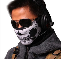 Wholesale Outdoor sports Call Of Duty COD MW6 Neck veil Tube Face Mask Skull Full Face Head Hood Protector