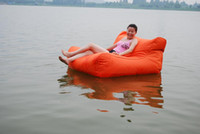 Wholesale extra large floating beanbag summer swimming beanbag DOUBLE WIDE bean bag floats pool bean seat without filling