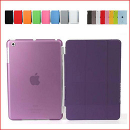 Smart Cover Magnetic Sleep Wake PU Leather Case+ Crystle Hard Back Case 9.7 Inch 7.9 Inch For Ipad 2 3 4 5 Mini mini 2 Ipad Air Multicolor