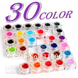 Wholesale PSC Set Colorful UV Gel Glitter Glaze Gel For Decoration Nail Art NA469