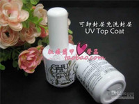 Wholesale Original CHUJIE Clear Top Coat for Soak off Color UV Gel Polish amp Nail Art LED Color Gel