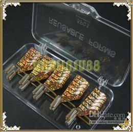 Wholesale Reusable Nail Forms UV Gel Acrylic French Gold Color K289