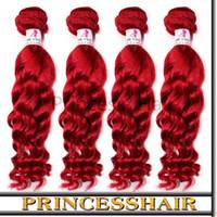Body Wave Brazilian Hair machine Ombre Hair Products: Human Brazilian Remy Hair Weave 3 Bundles Red Color Brazilian Ombre Hair Natural Wave