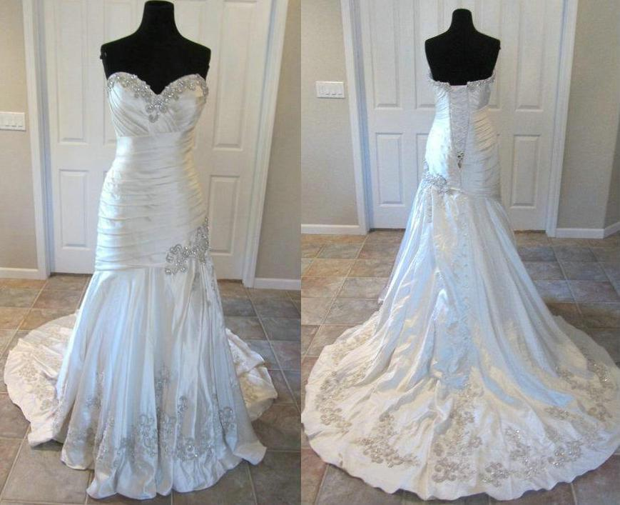 Bling Designers Mermaid Wedding Dresses 9024 Crystal Sweetheart ...