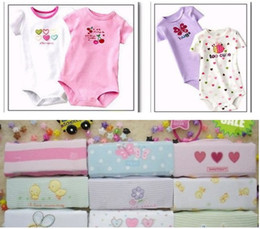 Hot Sale Baby Bodysuits NB One-Pieces Baby Short Sleeve Romper Toddler Bodysuit 5pcs lot Free Ship