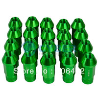 Wholesale New x P1 mm Car Automobile Repacking Wheel Anti theft Security Aluminum Lug Nuts Green