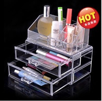 Wholesale Hot genuine acrylic crystal jewelry box cosmetic box Desktop Storage transparent plastic boxes