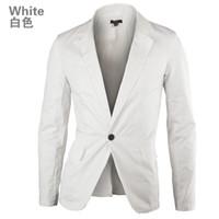 Wholesale Men Blazers Fashion Autumn Turn Down Collar Slim Blazer Men s Jackets Men Casual Dress Suit Mens Slim Fit Small Coat size M XXL