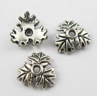 Wholesale 332Pcs Tibetan Silver Tone Leaf End Bead Caps mm Jewelry Craft DIY