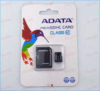 Wholesale Adata GB Class Micro SD Card TF Memory Card SDHC Free Adapter For Smartphone and mp4 player Retail Packaging