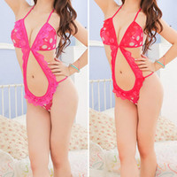 Wholesale 2014Women Sexy Dots Lingerie Night Sleepwear Lace Teddy Bodysuit S M M2052