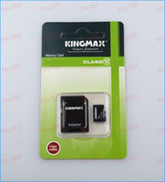 Wholesale Kingmax GB Class Micro SD Card TF Memory Card SDHC Free Adapter For Smartphone and mp4 player Retail Packaging